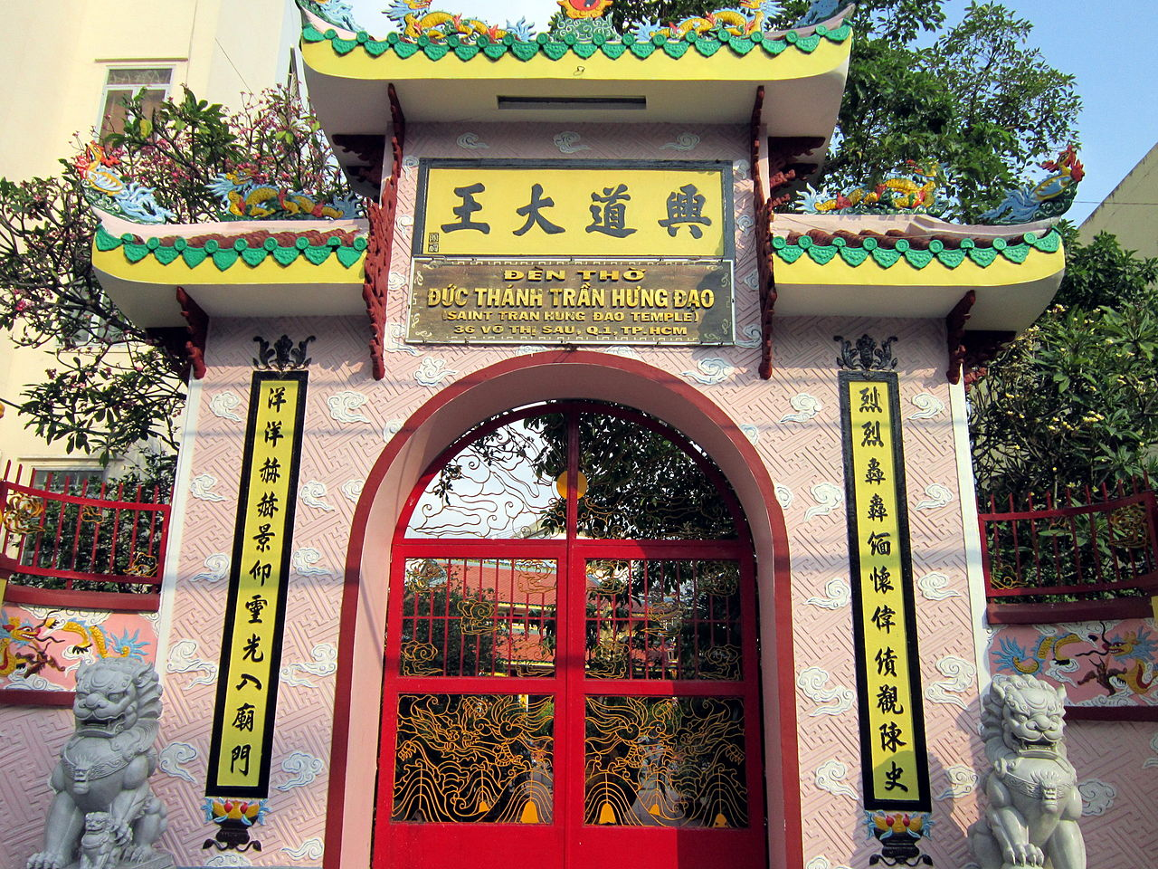 tran hung dao temple saigon ho chi minh city